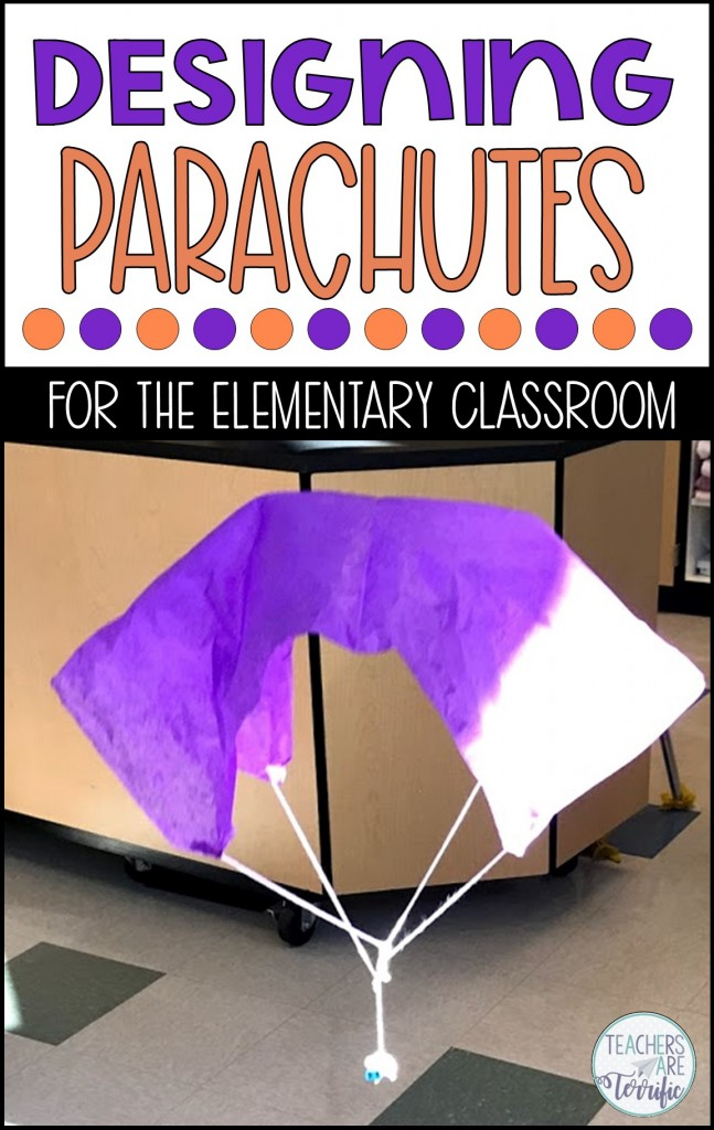 STEM Challenge- Design a parachute that safely brings its cargo to the ground. Check this blog post for more information!