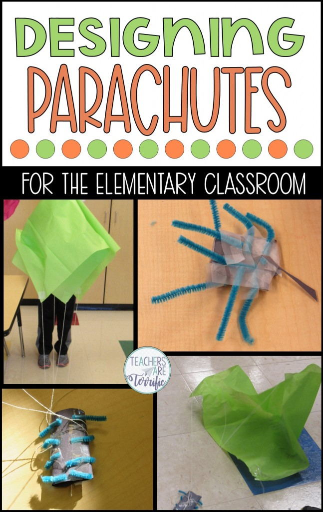 STEM Challenge- Design a parachute that safely brings its cargo to the ground. The load is a plastic spider!