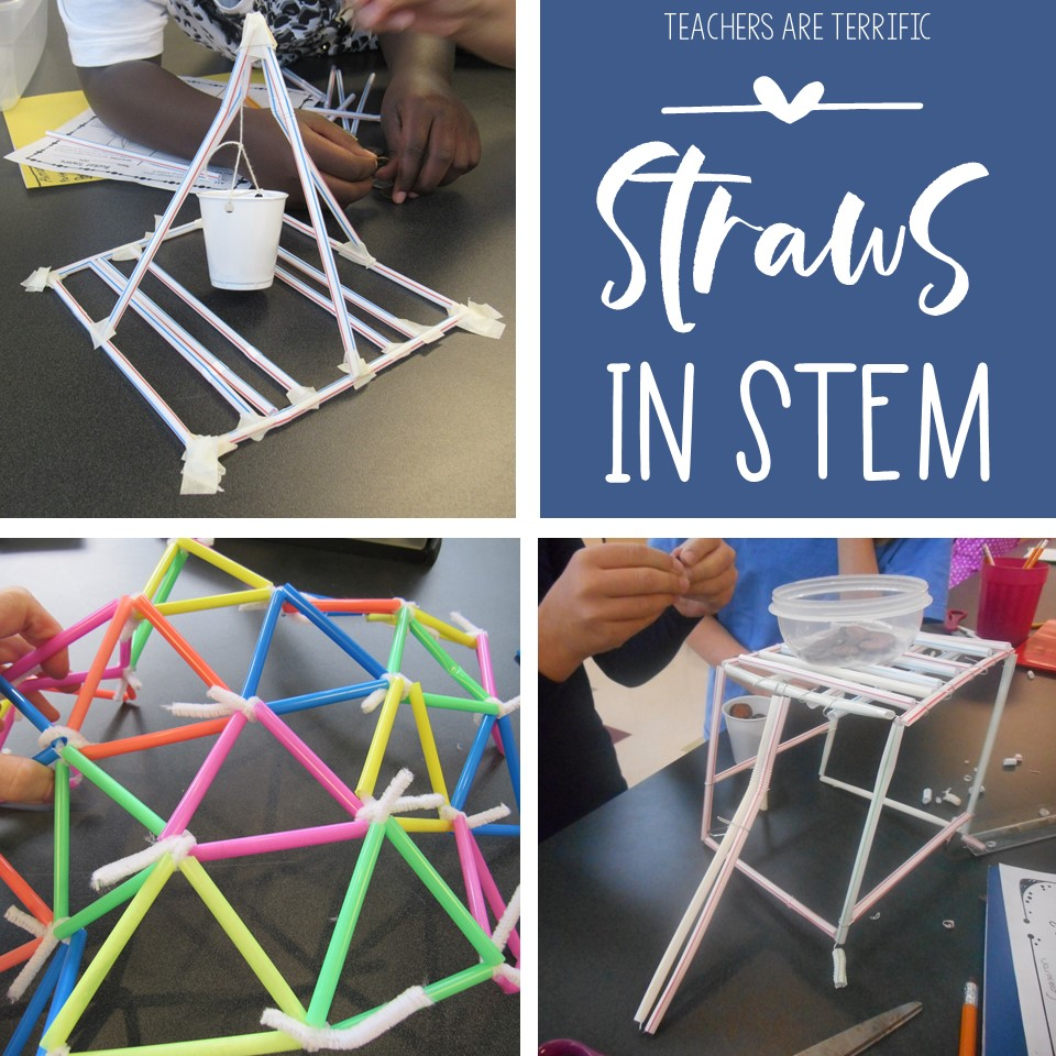 Straws used in STEM class - check this post for details about projects using straws as a building material.