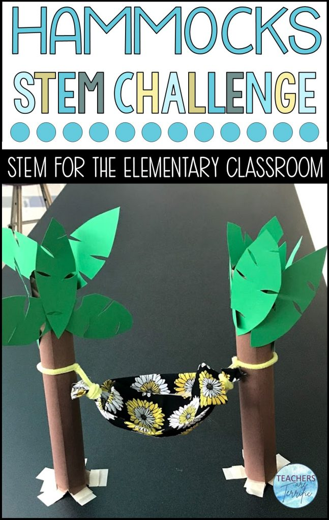 Here's another awesome STEM hammock challenge that you absolutely must try!  This one is just plain fun (and challenge!).  Students have to build a model of a hammock.  There are two versions of this challenge.  Both are challenging and full of problem solving!
