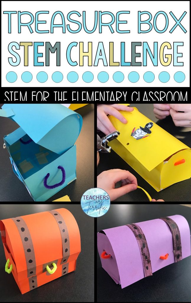 STEM and reading are a perfect combination.  This is a fabulous STEM must-try challenge, inspired by a pirate book.  Students build a treasure chest where they can keep any treasure of their choice.  The rules of the task are daunting - as daunting as a pirate!