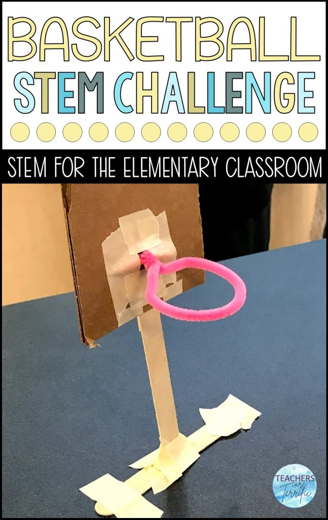 Basketball goals!  The most fun challenge ever in the STEM lab - definitely a must for STEM challenges!  This challenge is perfect for fall sports, but don't forget the great basketball tournament in March!  Your students will love taking part in this basketball STEM challenge!