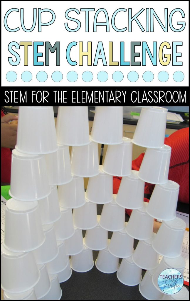 How tall can you stack 100 cups?  Can you use your data to calculate mean, median, mode, and range?  This is a perfect STEM challenge to practice those math skills and improve teamwork with your students.