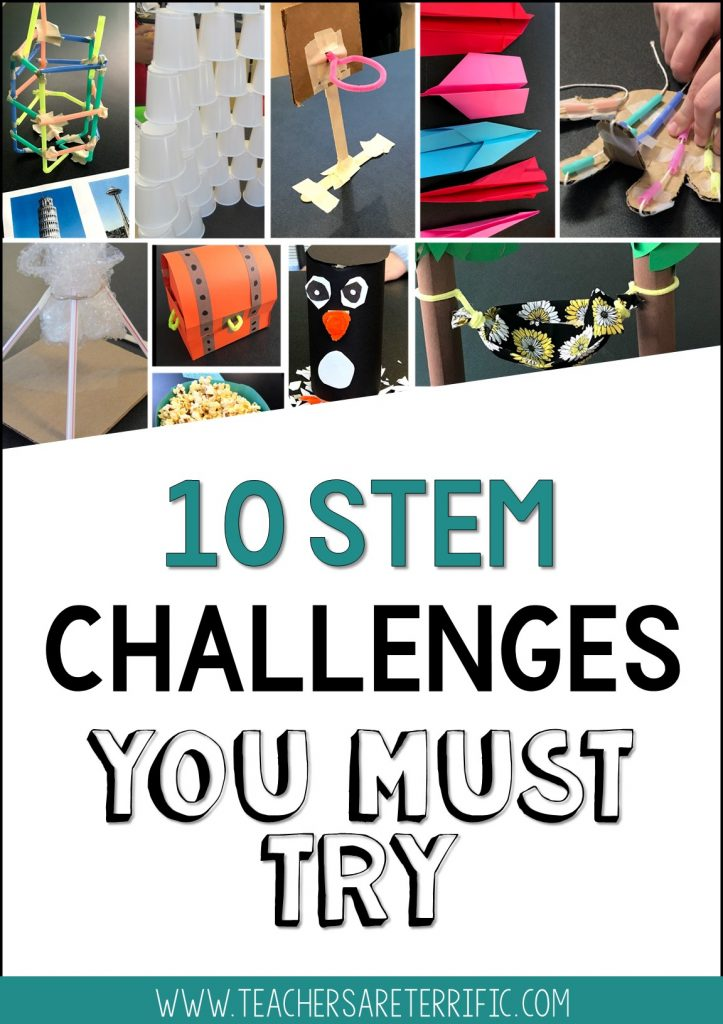 STEM challenges you must try soon!  This post has ten great STEM challenges and reasons why you will enjoy them.  Tips for everyone are also included!