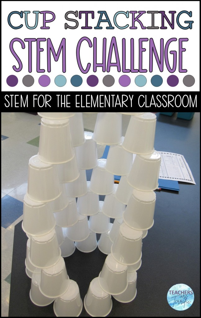 Here is a perfect way to practice some math skills. Students arrange cups in many configurations.