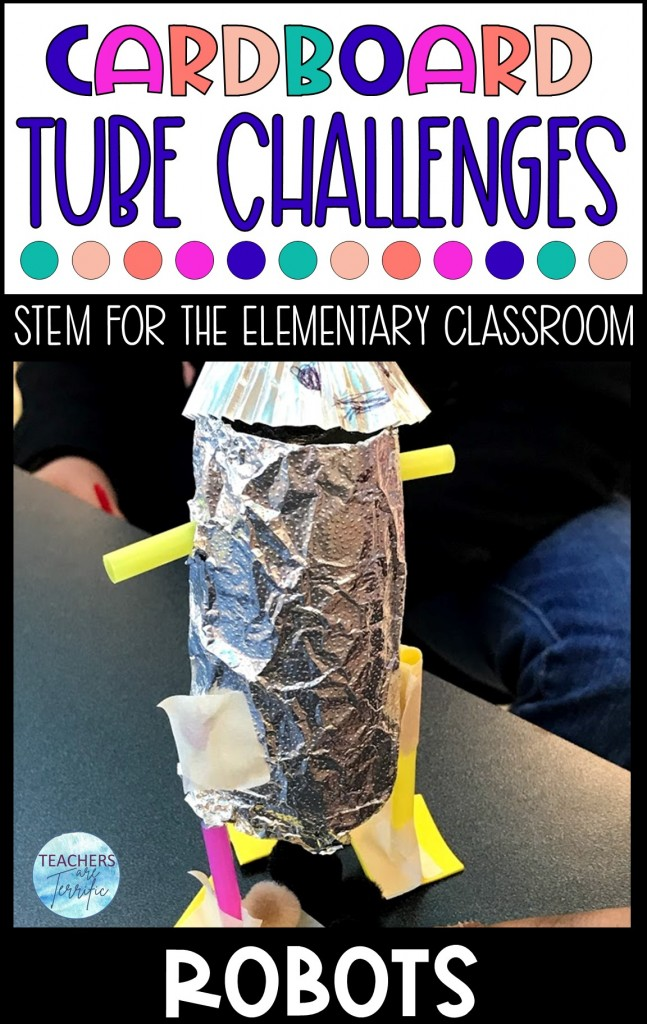 Cardboard Tube Challenge- Build a model of a robot that has a functional and realistic purpose. The main material is the flexible and versatile empty toilet tissue roll.
