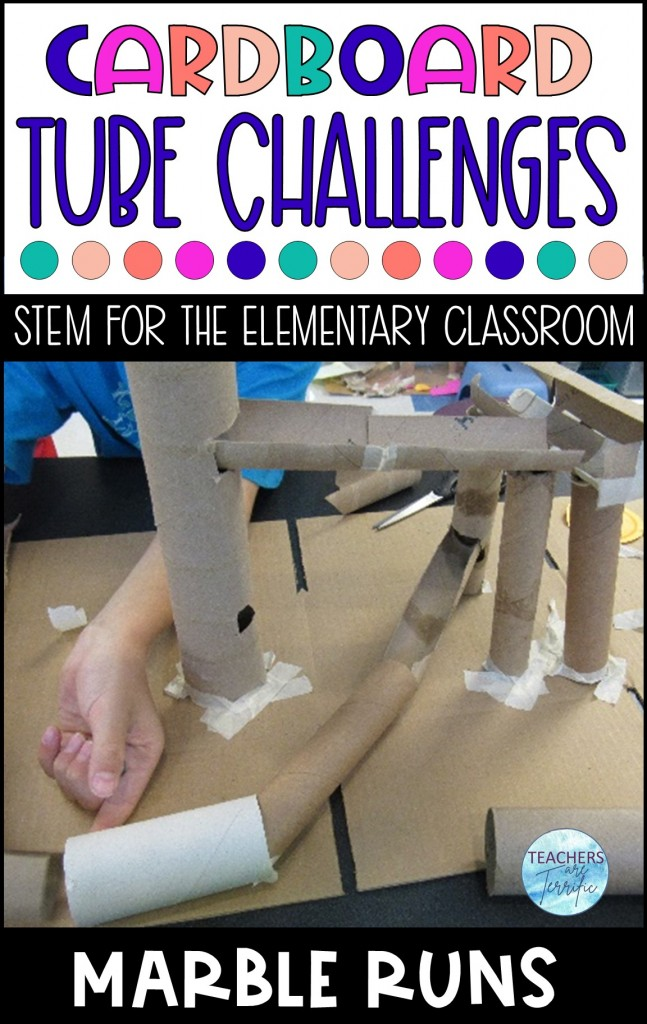 Cardboard Tube Challenge- Build a roller coaster using tubes to transport a marble- it's a marble run! The main material is the flexible and versatile empty toilet tissue roll.