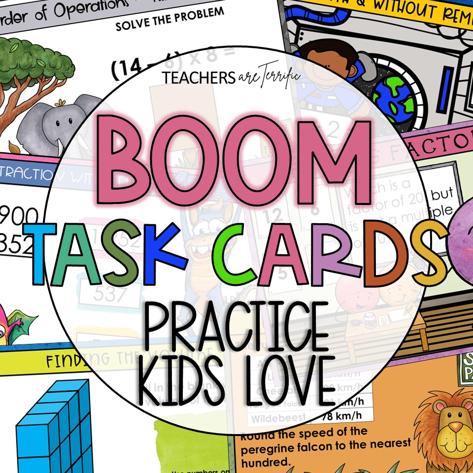 BOOM Task Cards are a perfect interactive practice with immediate feedback. Just assign to students and let them enjoy the colorful backgrounds and scenes as they practice many skills.