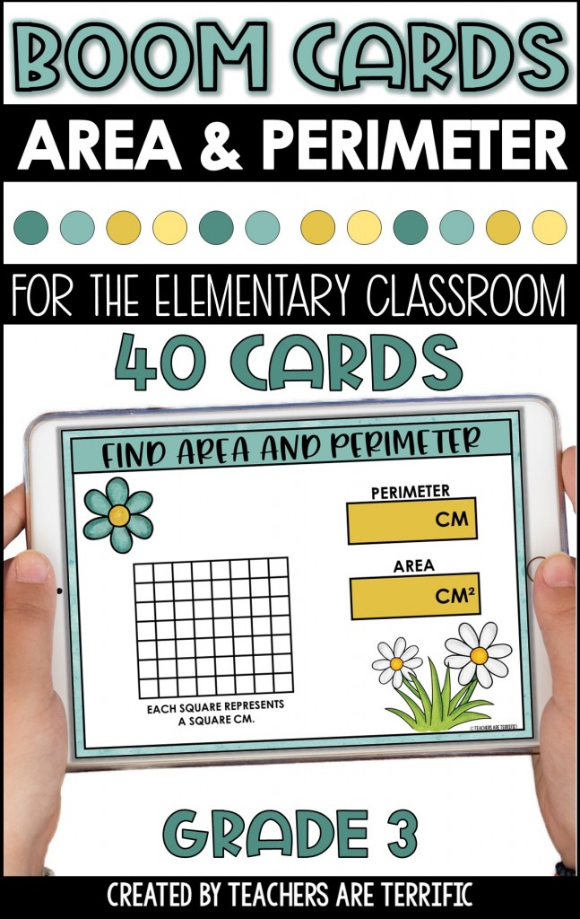 BOOM Task Cards are a perfect interactive practice with immediate feedback. This set features practice for finding area and perimeter.