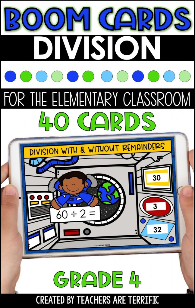BOOM Task Cards are a perfect interactive practice with immediate feedback. This set features Division with a space decor theme.