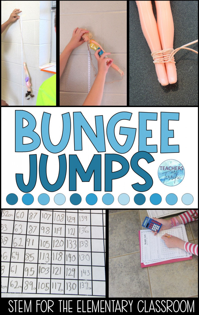 This is one fantastic STEM challenge that is now in our top three all-time favorites! It's a bungee jump challenge using rubber bands and a ton of math! Students experiment and analyze their data to determine the next step as they design the ultimate bungee jump.