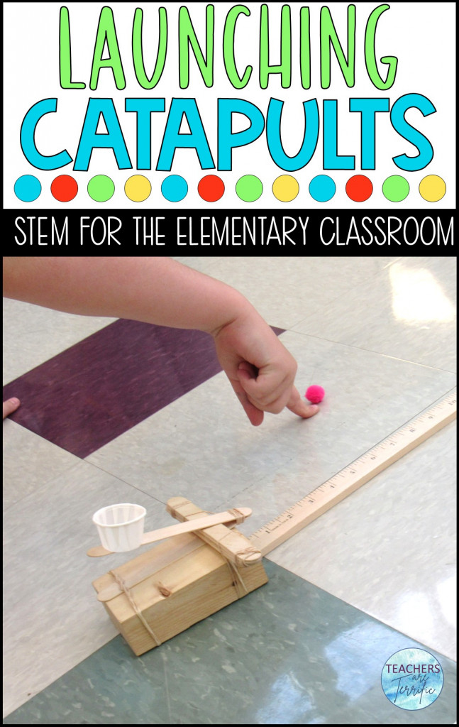 How far can you launch something with a catapult? Can you hit a target or go over a formidable wall? This STEM Challenge catapult building experience will have your students working together to build a catapult, experiment with different angles, and compete with several performance tasks!