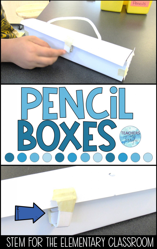 Here's a fabulous STEM challenge to help ease into STEM at the beginning of a school year! It's all about school boxes and pencils! This one has an interesting premise and will spark a discussion about why students would need to build a pencil box. Mine came up with some creative ideas!