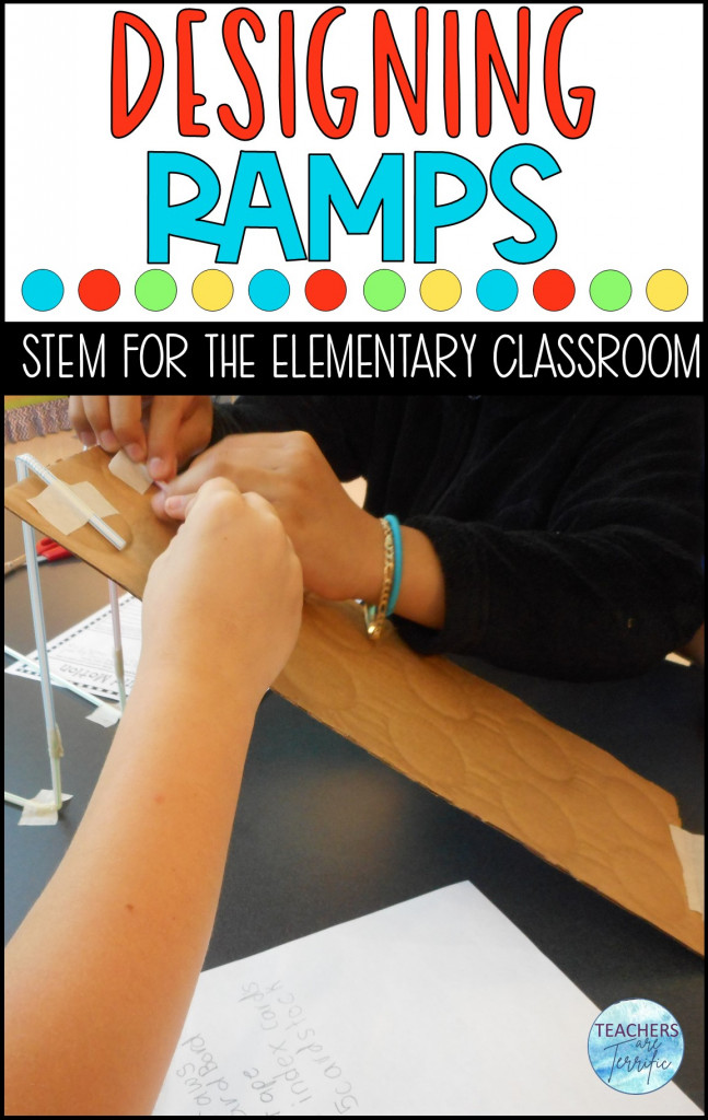 Math and STEM - Experiment with using ramps and Newton's Second Law of Motion and then build your own ramp in this fabulous STEM Challenge! Kids love this one! This is more than a STEM Challenge! Students experiment with ramps and then use their data to design and build their own ramp. Can they use that data to their benefit?